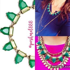 :: S&D Eye Candy Emerald Green + Gold  Necklace